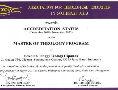 Re-Accreditation S.Th and Accreditation M.Th ATESEA
